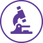 icon of microscope (purple)