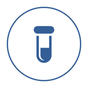 icon of half full test tube